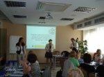 """Projekto pilotinės Kauno """"Varpelio"""" pradinės mokyklos komandos pedagogams skirtas kvalifikacijos tobulinimo seminaras """"Šiuolaikiškas požiūris į IKT ir inovatyvių mokymo(si) metodų taikymą pradiniame ir specialiajame ugdyme. Strateginio IKT ir inovatyvių mokymo(si) metodų diegimo mokykloje plano rengimas"""". 2010 m. rugpjūčio 20 d., Kaunas"""